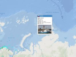 A Russian drillship explores the northern Kara Sea