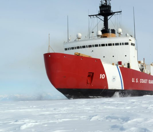 A US heavy icebreaker is set to depart on its first winter Arctic mission in decades