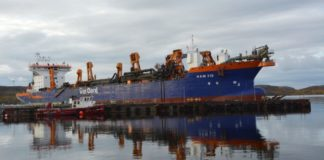 Massive dredging opens a shallow Russian Arctic gulf for bigger ships