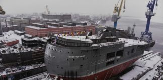 Russian Arctic research in high spirits as yard sets the 'North Pole' research station afloat