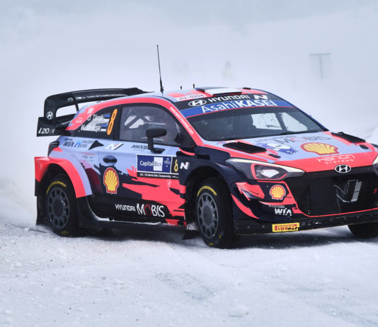The World Rally Championship's first ever Arctic race opens in Finland