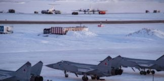 New Russian fighter jets are deployed to an upgraded Arctic air base
