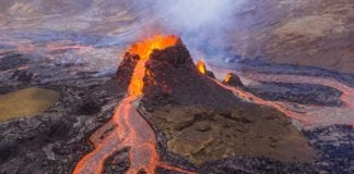 Iceland volcano's spectacular lava show draws crowds