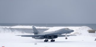 A Norway-based US bomber visits the Arctic for the first time