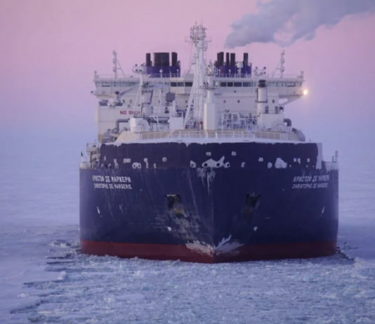 An Arctic LNG tanker is in drydock to repair damage from a winter test voyage