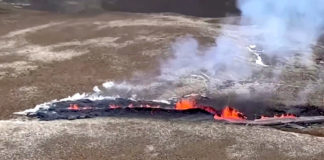 New fissures have opened at an erupting Icelandic volcano