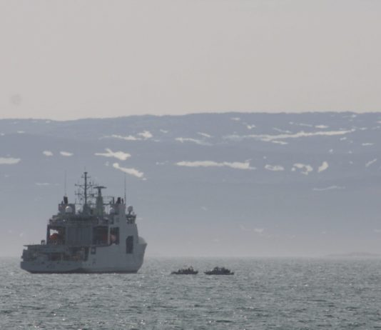 Canada's new Arctic patrol ship visits Iqaluit