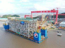 A giant module for Novatek's Arctic LNG 2 project sails the Northern Sea Route