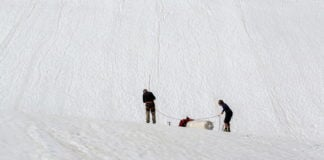A cloth sheet helped protect a Swedish glacier from global warming