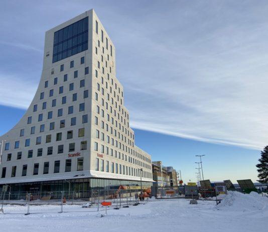 Kiruna's new city center is taking shape